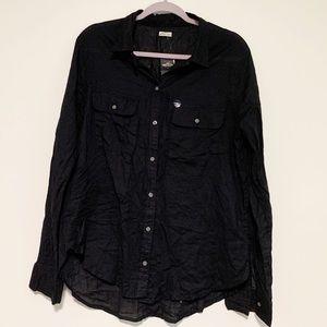 Black Hollister Button Up Shirt